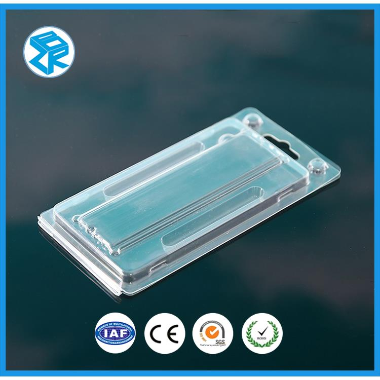 Low price hanging retail plastic clamshell packaging
