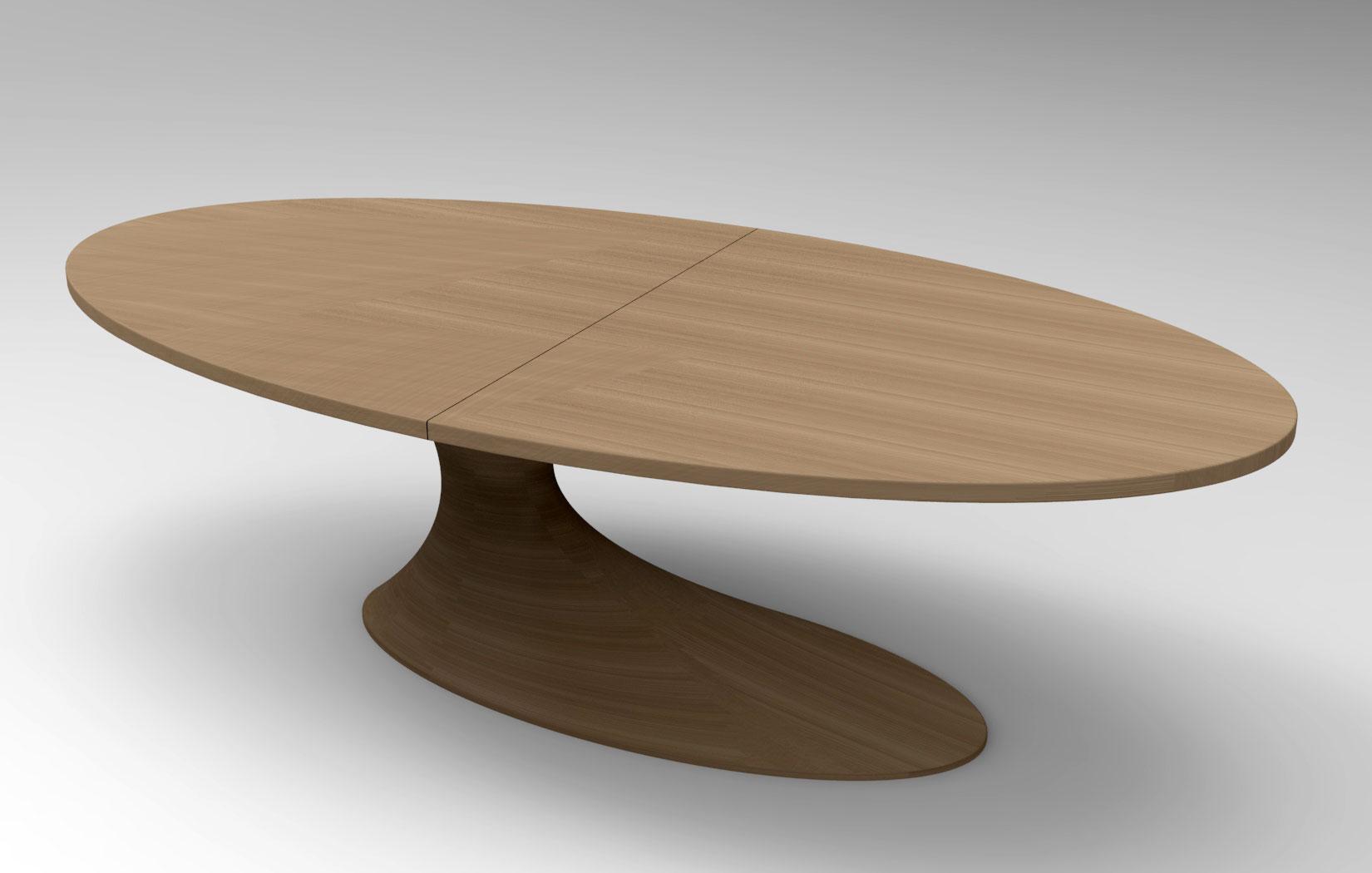 En bois massif table de conf rence ovale table en bois id for Table ovale en bois massif