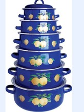 2014 Russian Decorative Cookware Enamel Casserole Set