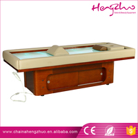 High end modern electric massage table mineral salt treatment bed with led light
