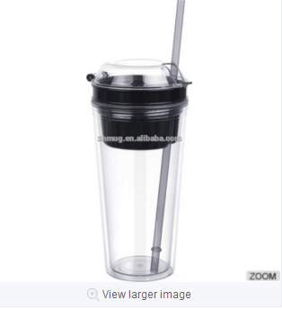 Double layer plastic cup water bottle