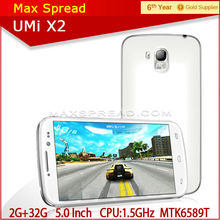 Wholesale 5 inch MTK6589 Quad Core 2gb ram 32gb rom Android umi x2 smart phone