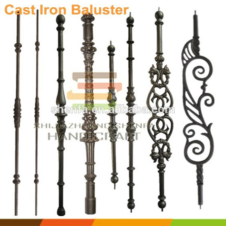 Cast iron handicraft fence railing stair metal picket
