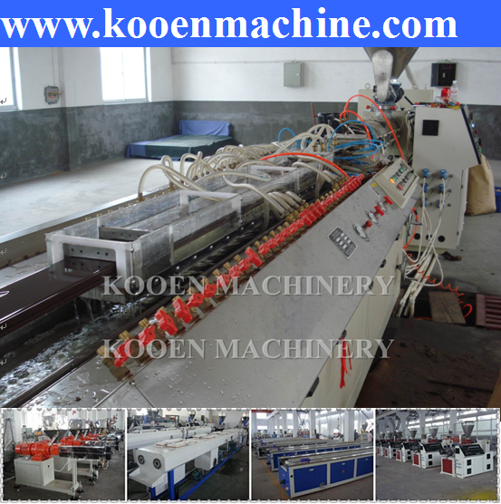 low price high quality wpc wood plastic profile production line