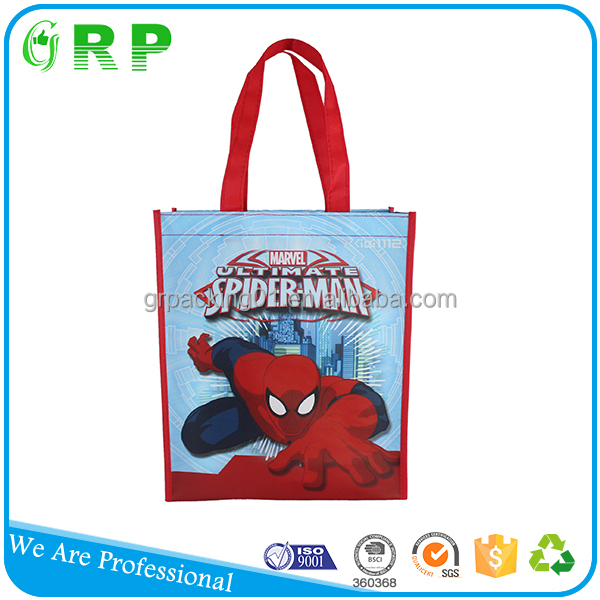 BSCI ISO Glossy laminated eco fabric lamination recycle bag for goodie bag