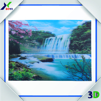 2014 Natural Scenery Art Paintings Printing Lenticular, 3D Poster Customized Pictures of Beautiful Lavender Flowers