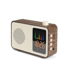 Rectangle Retro Radio Shape Wireless <strong>Speaker</strong> M20, 1200mAh Battery 5W Wood <strong>Portable</strong> <strong>Speaker</strong>