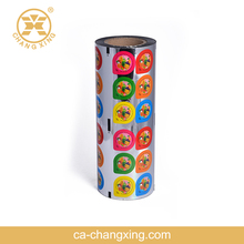 High barrier easy peelable food grade packaging plastic cup sealing roll film for jelly cup lid