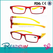New trendy clear plastic frame long temple reading glasses