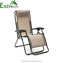 Water Proof PVC Coated Fabric Garden Sun Lounger Zero Gravity Recliner Chair