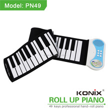 baby grand piano roll up piano 49keys keyboards instrument educational supplies music box midi