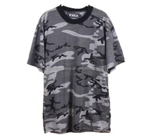 overstock apparel of camouflage t-shirts 100% cotton wholesale