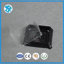 Wholesale Custorm Transparent Plastic Cake Box Round Triangle Dessert Blister Container