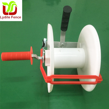 White PP Geared Reel For Poly Wire Fence