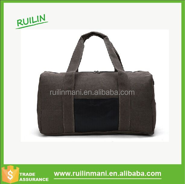 Stylish military canvas travelling duffle bag sport