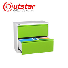 Cheap Wide Two Sliding Drawers Steel Filing Cabinet