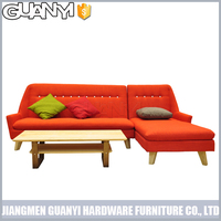 corner lounge sofa with wooden legs