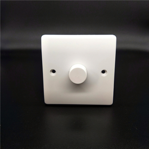 WP500W-12 uk wall switch socket home dimmer max voltage 250v hotel 500w 1 g 2w white rotary button switches