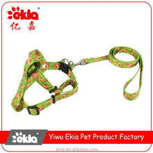 Top fashion unique design luxury nylon pet dog leash for collar harness