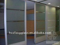 frosted and sandblasted shower Tempered partition Glass bathroom Partition Glass