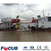 CE ISO Certificate 120m3/h tug borne concrete mixing plant for selling