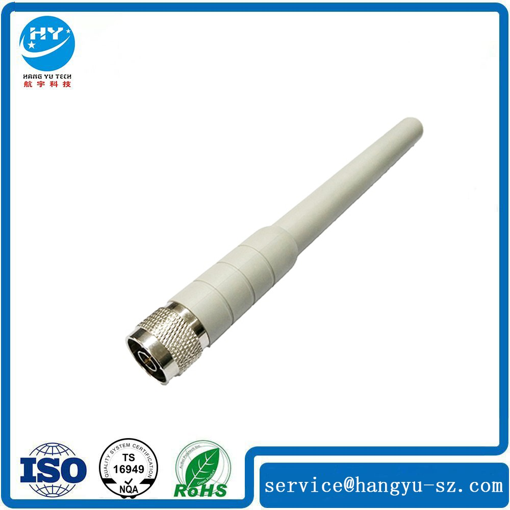White Rubber 3G CDMA GSM 1900 2400MHZ Antenna With N Male Connector