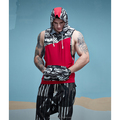 New Design Tank Top For Men Camouflage Patchwork Sleeveless with hood Gym Bodybuilding Workout Fitness Muscle Tank Top