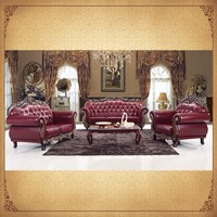 Classic Wine Red Foshan China Furniture Living Room Antique Chinese Traditional Wedding Furniture
