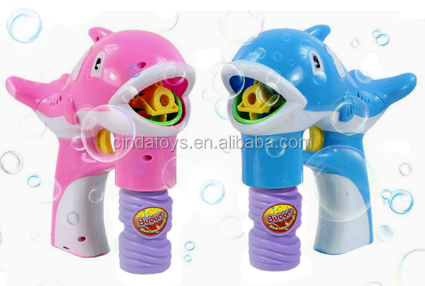 Jiyong bubble gun with LED light,Environmental bubble water children plastic toys,mini Dolphins electric bubble toys