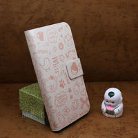 2014 the newest design faerie leather case for IPHONE 4 flip cover
