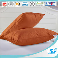 cotton polyester cushion down feather pillow for hotel home sofa bed