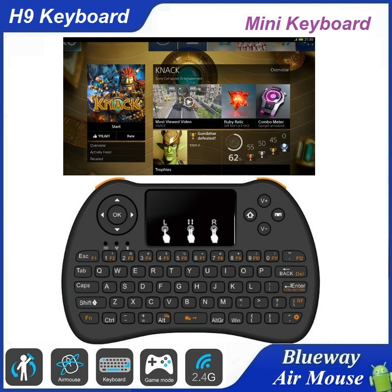 Hot Portable H9 Mini Keyboard Mini I8 Wireless Bluetooth 2.4G Keyboard With Touchpad For PC Pad