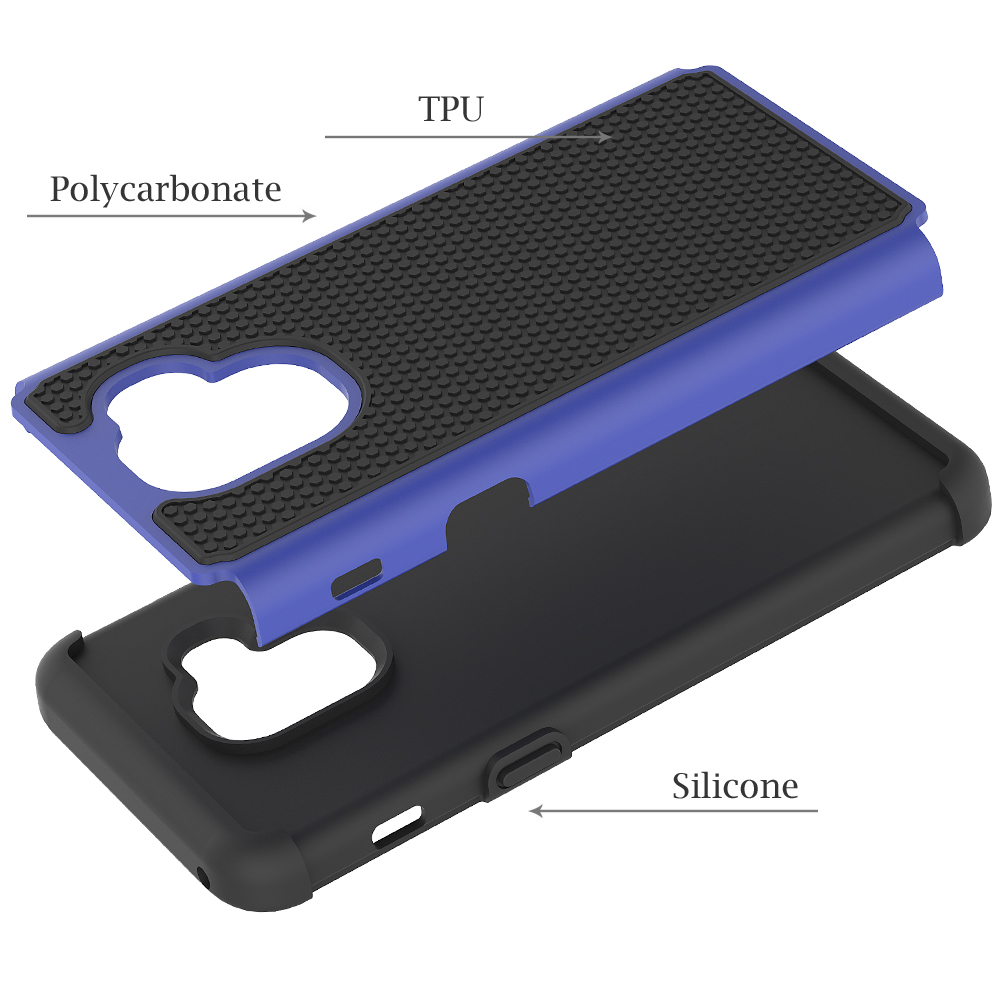 Triple Defender Case with TPU Raised Dots Anti Drop Shockproof Ballistic Silicone Case For Samsung A5 2018 A530