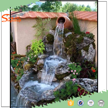 2016 new outdoor water fountains waterfalls artificial for Cascadas de jardin artificiales
