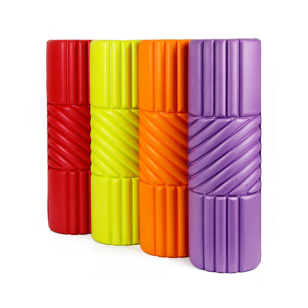 plastic self massager back support yoga foam roller 3 in 1