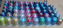 wholesales popular <strong>120</strong> Simthread colors 100% polyester embroidery thread for most embroidery machines in 1000m/cone