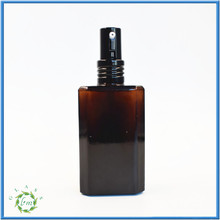 New product 60ml square olive oil spray bottle with black screw top