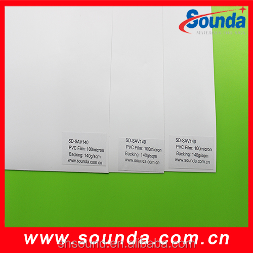 Permanent glue adhesive vinyl for outdoor 120g release paper