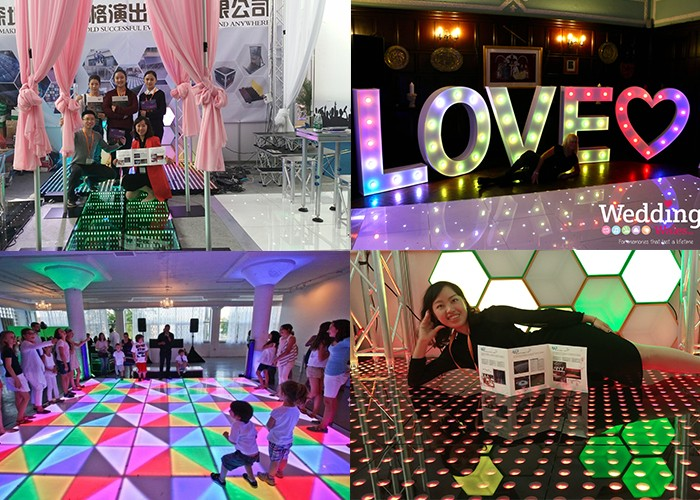 Black white wedding tent dance floor in Shenzhen