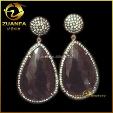 fashion wholesale drop earrings aaa cubic zirconia women earrings
