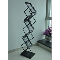 zed up crossed iron catalogue shelf, magazine holder