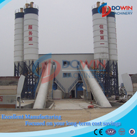 HZS60 60m3/h concrete batching plant process flow