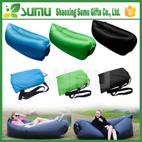 Lightweight air inflatable lamzac hangout double sleeping bag