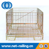 Industrial collapsible pet preform wire mesh cage