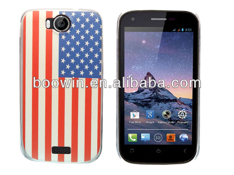 for wiko cink peax 01/02 high quality USA flag crystal case factory price