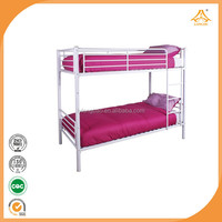 steel bed white color home bed kids bunk bed
