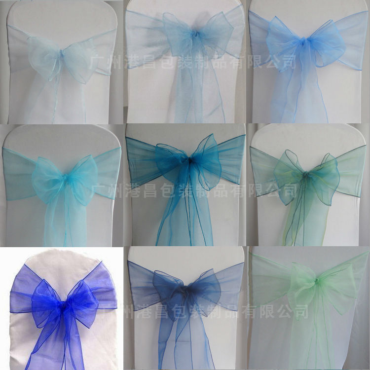 Crystal organza chair sashes wholesale
