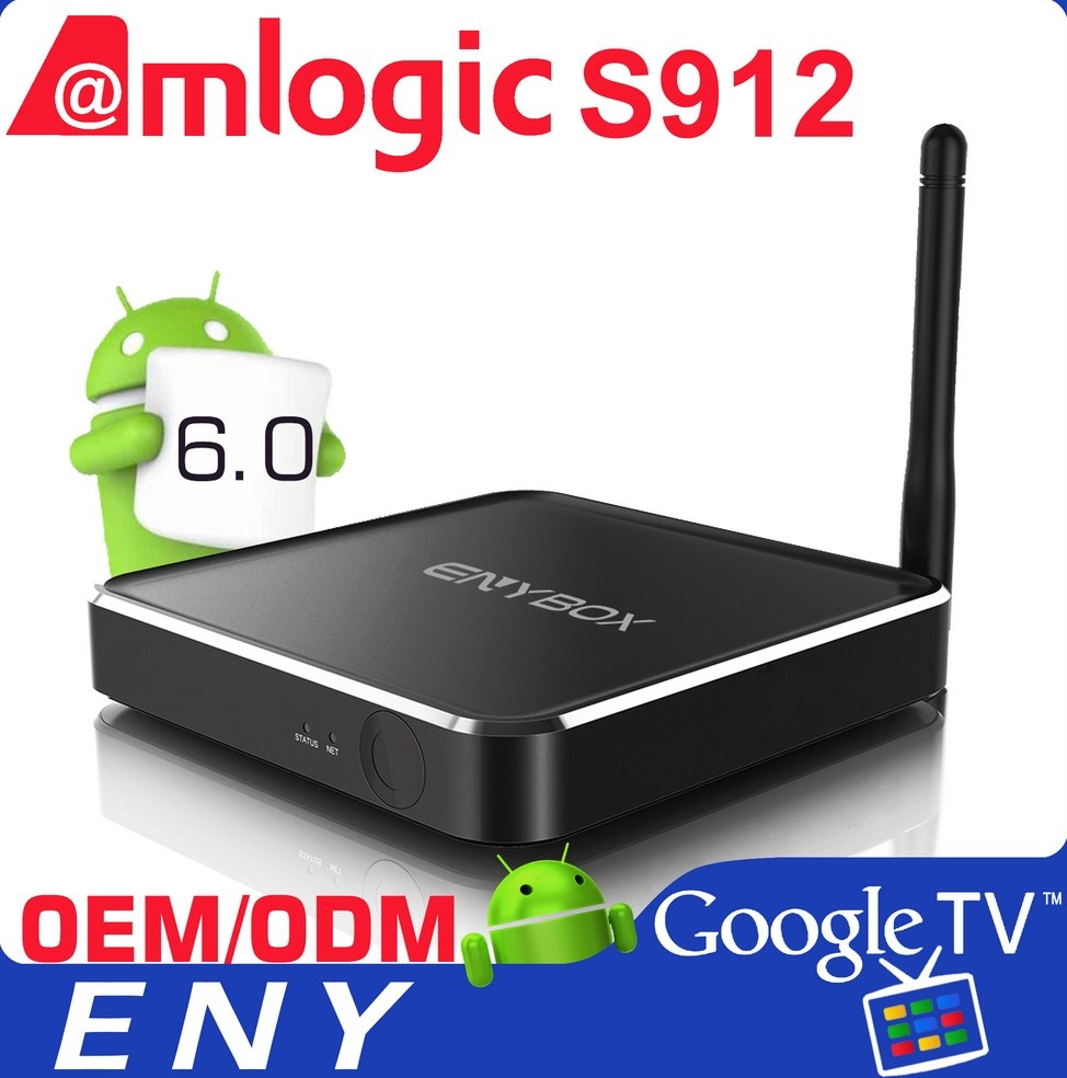 Best Android TV Box 2GB Ram 16GB Rom X2 S912 Octa Core Metal Case Kodi Android TV Box Wholesale Android Smart TV Set Top Box