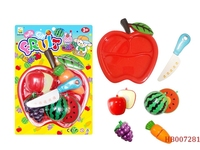 Plastic Toys Fruits And Vegetables Kitchen Toy For Kids