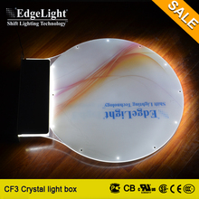 Edgelight led window displays light box sign outdoor for trade show advertising